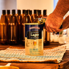 Opening a can of beer extract to make home brew