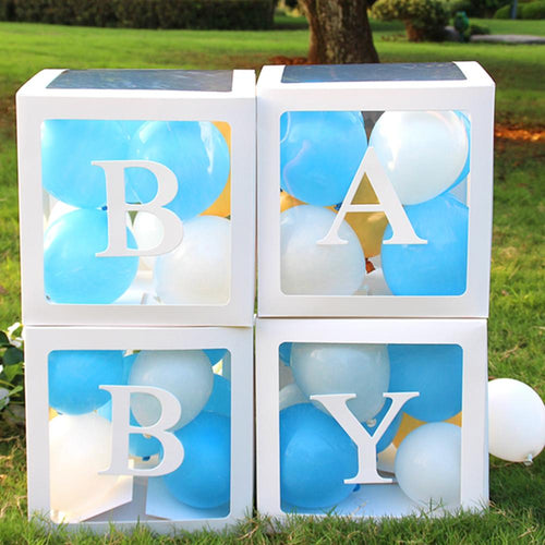 LOLO Name Age Box Girl Boy Baby Shower Decorations