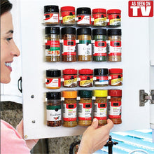 Load image into Gallery viewer, Lolo 4PCS/SET 20 Cabinet Clip N Store Home Kitchen Organizer Stick Spice Rack Storage.