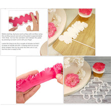 Load image into Gallery viewer, 3Pc Lolo Tools  toothed Rose Flower Cake Mold Cookie Cutter Fondant Cake Decorating