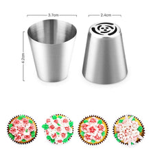 Load image into Gallery viewer, 14pc/Set LOLO TOOLS Russian Tulip Icing Piping Nozzles Stainless Steel Flower Cream Pastry Tips Nozzles Bag Cupcake Cake Decorating Tools