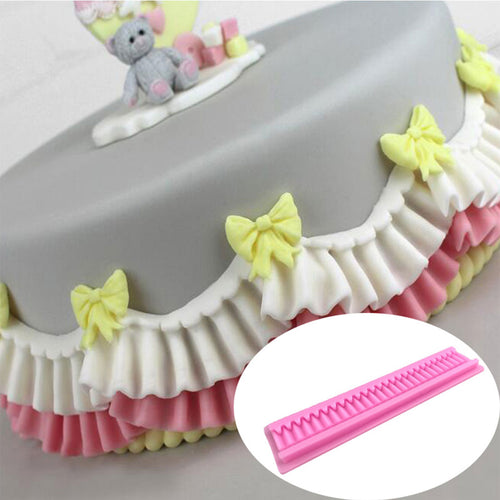 Practical Cake Folded Lace Border Decoration