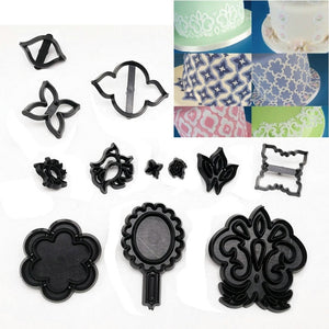 LOLO Cake Decorating Tools Fondant Molds Set Plastic Family Cookie Cutter