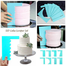 Load image into Gallery viewer, LOLO Scraper Smoother Cake Decoration Pastry Edge 8 Style Fondant Fashion Plastic  Mousse
