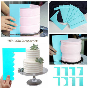 LOLO Scraper Smoother Cake Decoration Pastry Edge 8 Style Fondant Fashion Plastic  Mousse