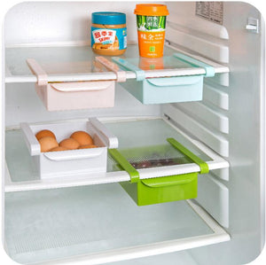 LOLO Mini ABS Slide Kitchen Fridge Freezer Space Saver Organization Storage Rack