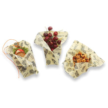 Load image into Gallery viewer, Beeswax Food Wrap, Monarch Print, 3 Pack