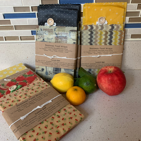 Beeswax Wrap - lunch set