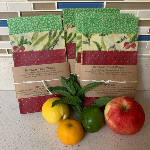 Beeswax Wrap - set of 3