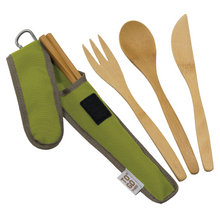 Load image into Gallery viewer, Bamboo Utensils with RePEaT case - Adult