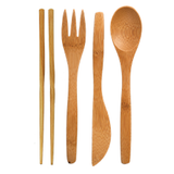 Bamboo Utensils with RePEaT case - Adult