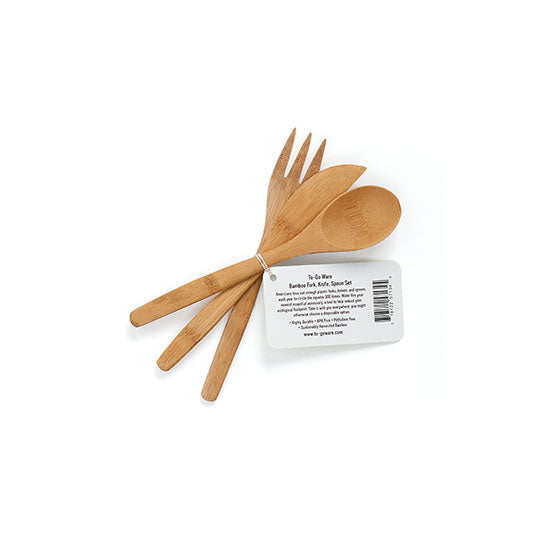 Bamboo Utensils - Fork, Knife, Spoon