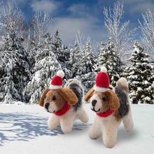 Load image into Gallery viewer, Santa's helpers - wool dog ornaments