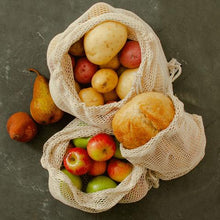 Load image into Gallery viewer, Reusable Certified Organic Cotton Mesh Produce Bags