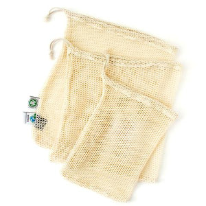 Reusable Certified Organic Cotton Mesh Produce Bags