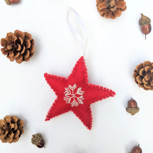 UNIQUE collection - organic wool ornaments (Set of 2)