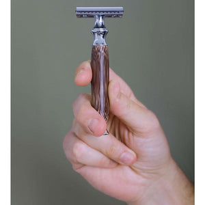 Double Edge Safety Razor with Natural Bamboo Handle