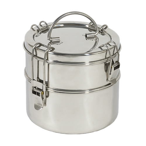 "2-Tier Stacked Tiffin 5 1/2"" x 6"""