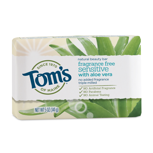 Tom's of Maine Sensitive Aloe Fragrance-Free Natural Beauty Bar 5 oz.