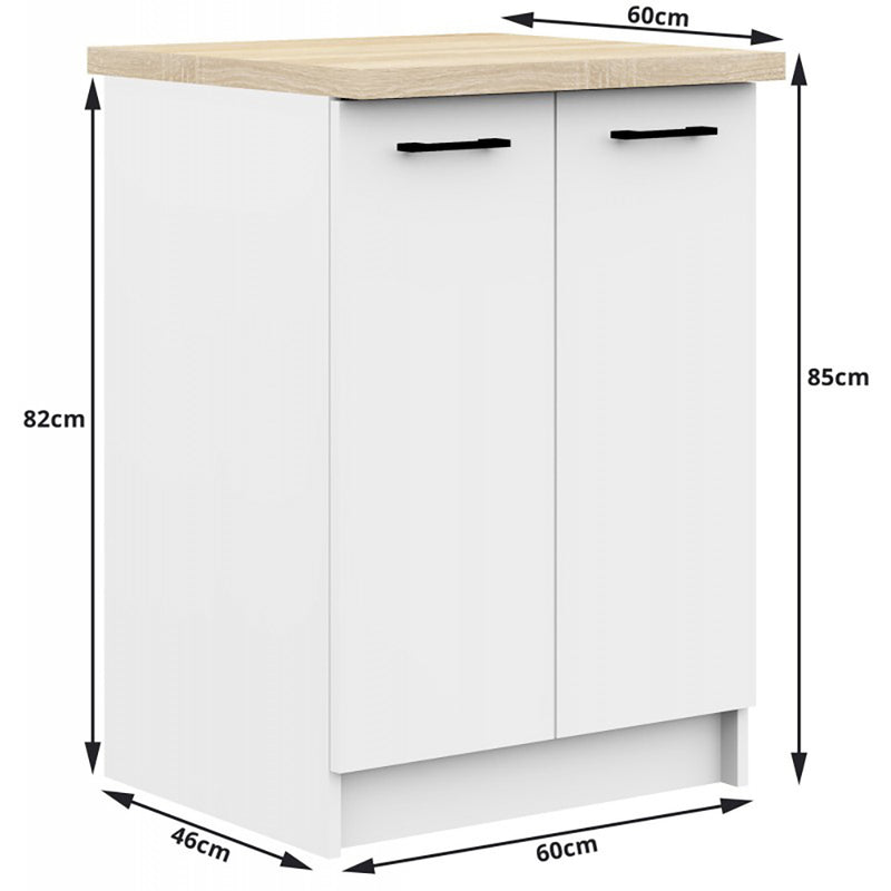 SET MOBILIER BUCATARIE OLIWIA 2.4M ALB
