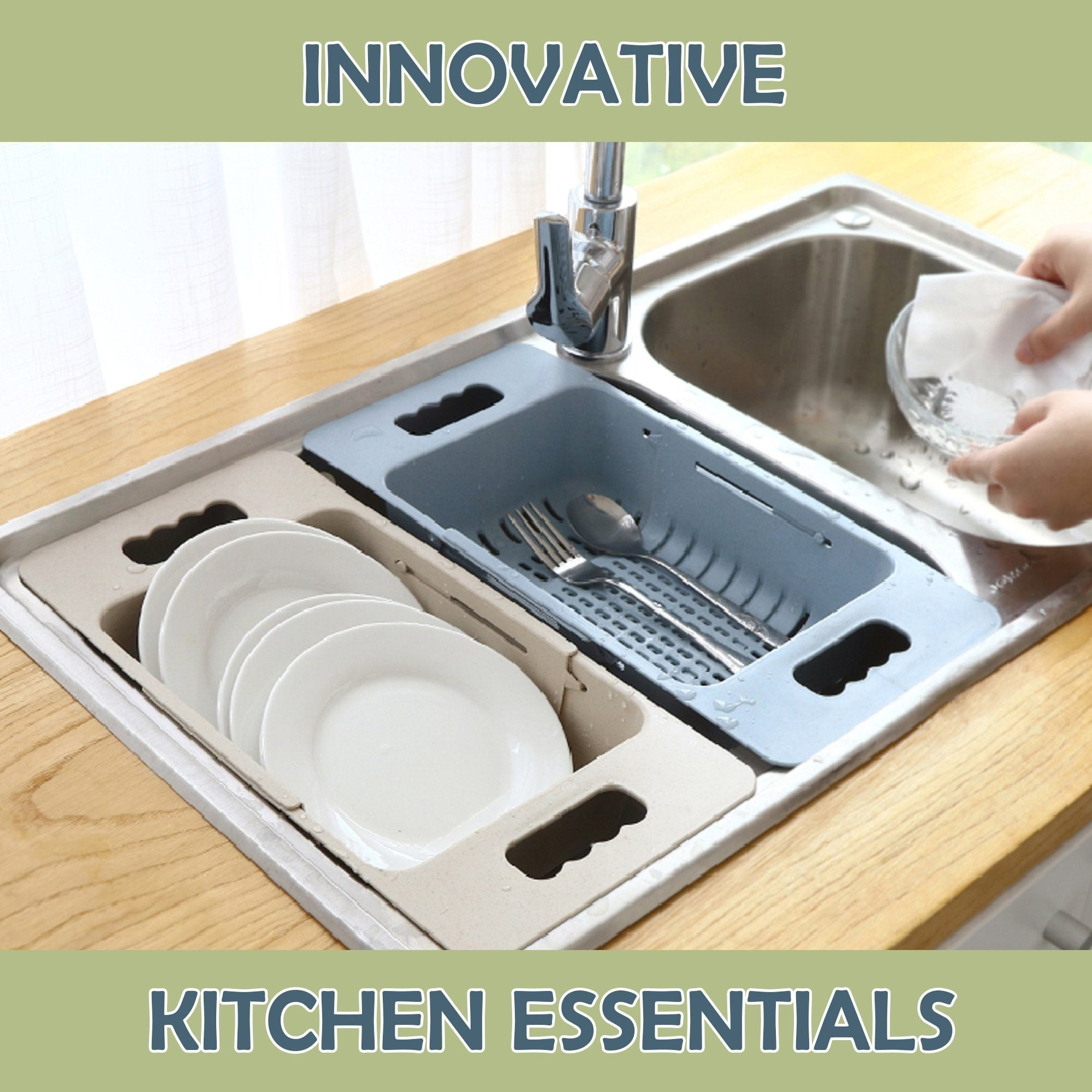 Collapsible Over-The-Sink Drainer