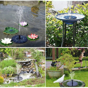60% OFF--SOLAR POWERED FOUNTAIN PUMP - PERFECT FOR YOUR GARDEN OR PATIO