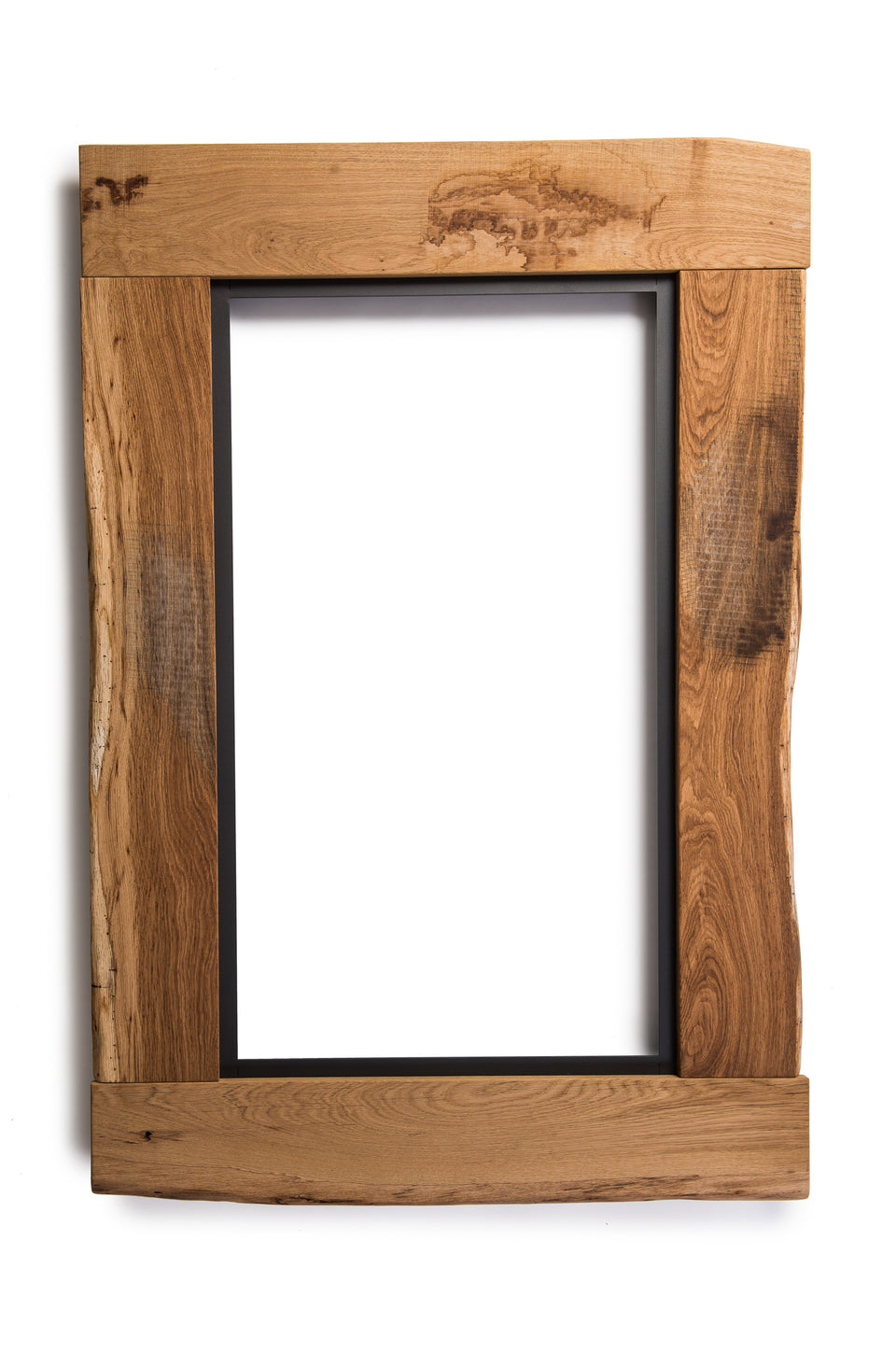 Groyer - F510 rustic solid wood framed mirror