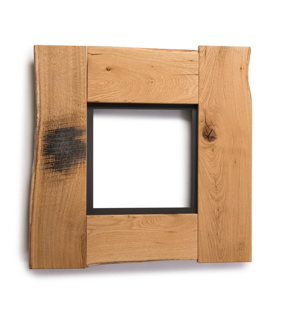 Groyer - F530 rustic solid wood framed mirror set