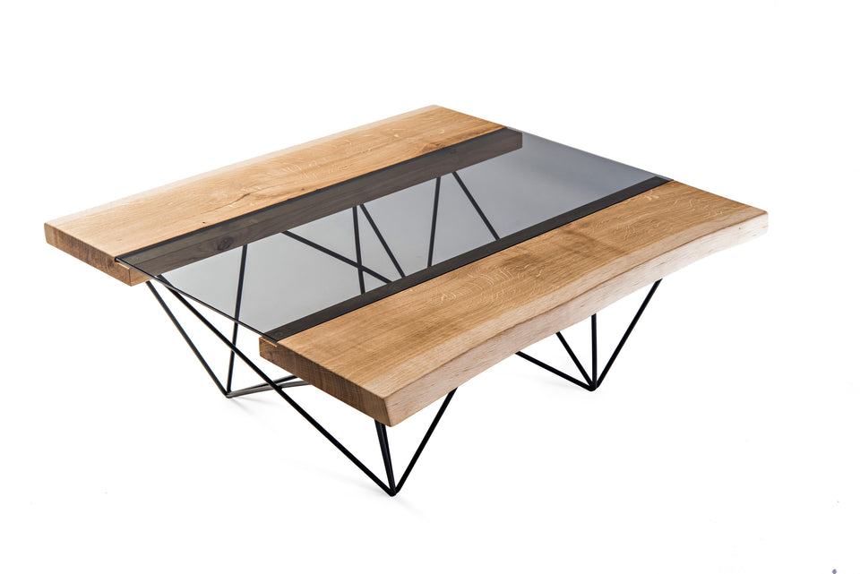 Groyer - GLA220 modern solid wood club coffee table
