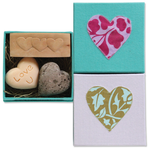 Love U Pumice Brush Soap Set