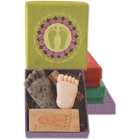Happy Feet Pumice, Brush & Soap boxed set