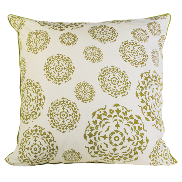 Olive Mandala Euro Cushion Cover