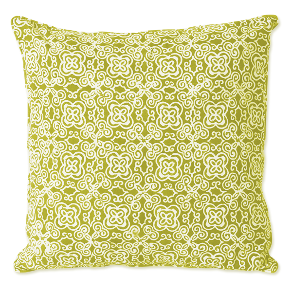 Green Batik Medium Cushion Cover