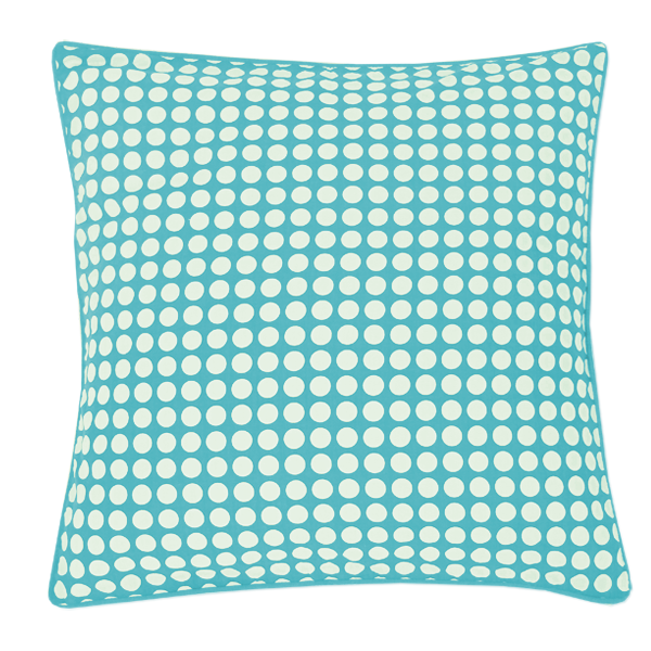 Turquoise Dots Medium Cushion Cover