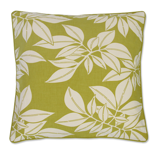 Green Leaf Medium Cushion Cover
