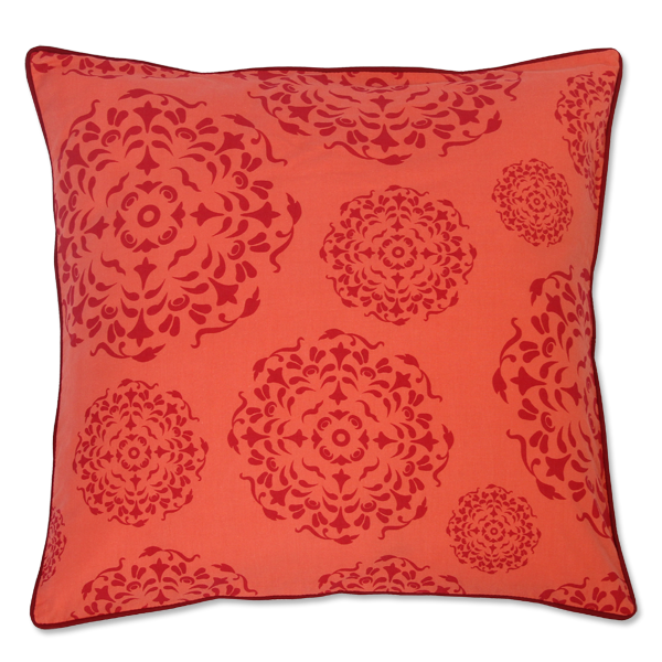 Red Orange Mandala Medium Cushion Cover