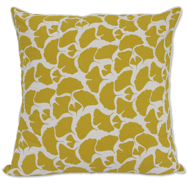 Citrus Yellow Ginkgo Large Cushion Cover