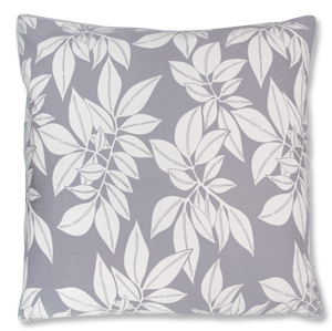 Lavender Grey Leaf Large Cushion Cover