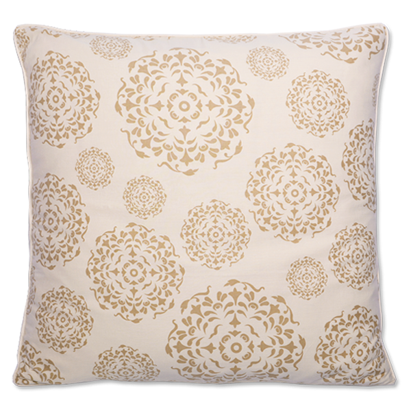 Beige Mandala Large Cushion Cover