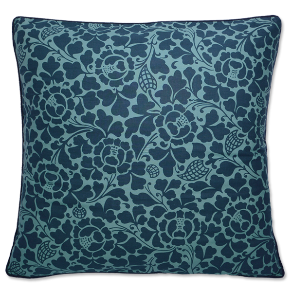 Indigo Teal Bali Large Cushion Cover