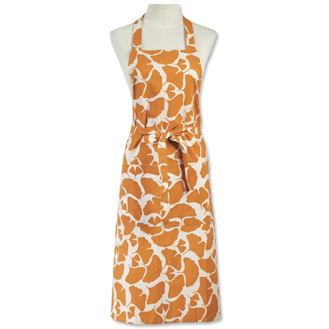 Gingko Orange Apron