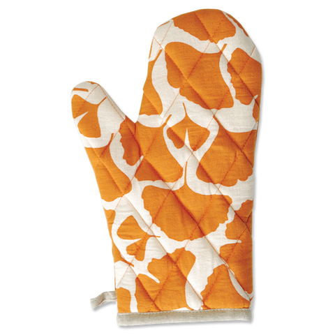 Gingko Orange Oven Mitt