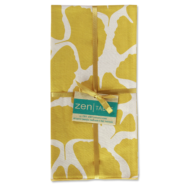 Set of 8 - Ginko Citrus Napkins