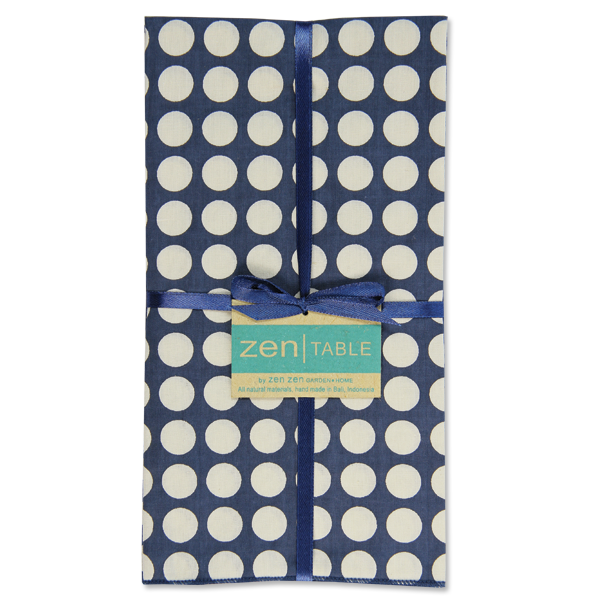 Set of 8 - Indigo Dots Napkins