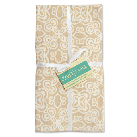 Set of 8 - Batik Beige Napkins