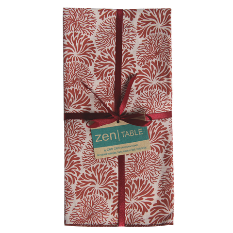 Set of 8 - Tumbleweed Coral Retro Napkins