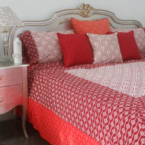 Peacock Red Duvet Cover in 2 Sizes