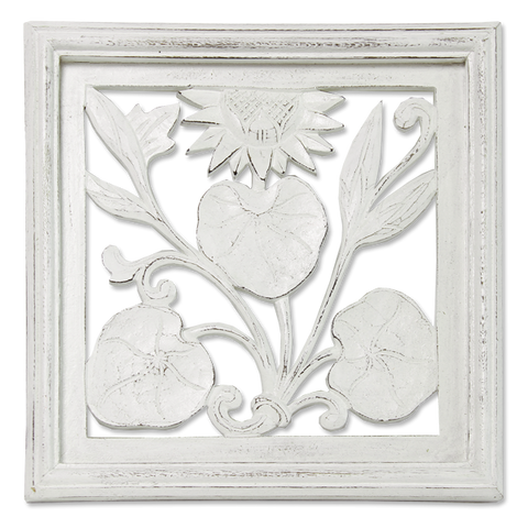 Small Square Lotus Relief
