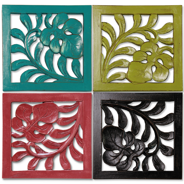 Set of 4 Colorful Trivit tiles