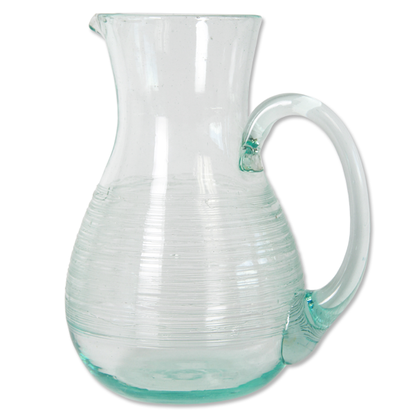 Scrappy Upcycled Glass Pitcher